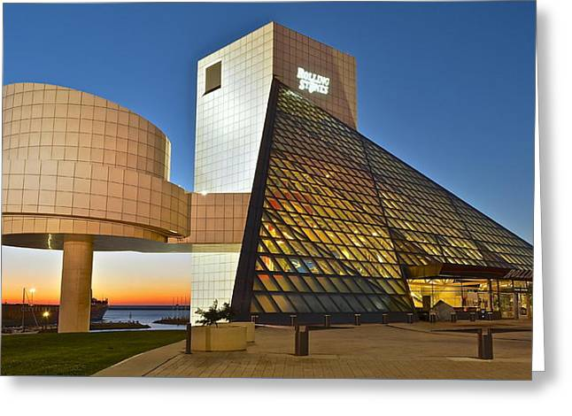 Rock Hall Stones Tribute Greeting Card by Frozen in Time Fine Art Photography