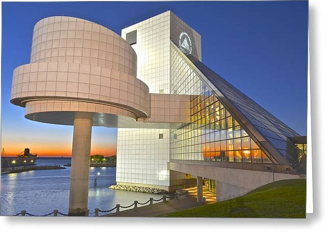 Rock Hall Sunset Greeting Card by Frozen in Time Fine Art Photography