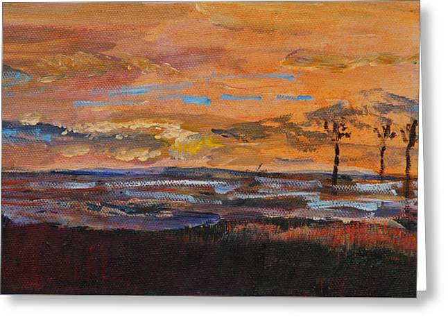 Rock Harbor Sunset Greeting Card
