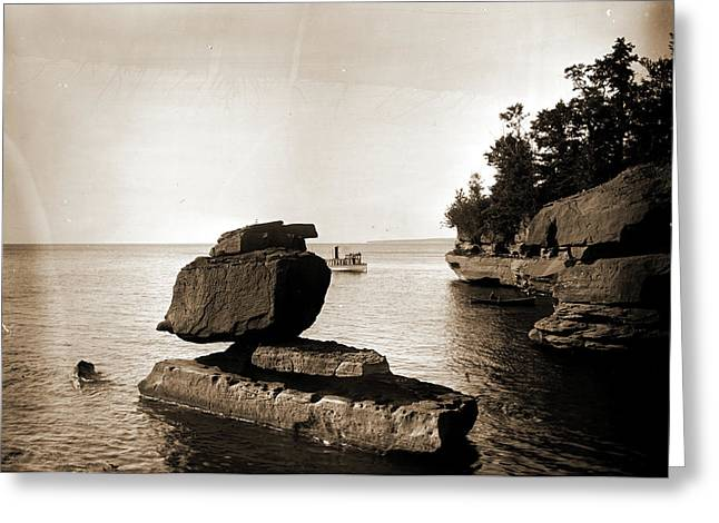 Rock In Apostle Islands, Lake Superior, Rock Formations Greeting Card