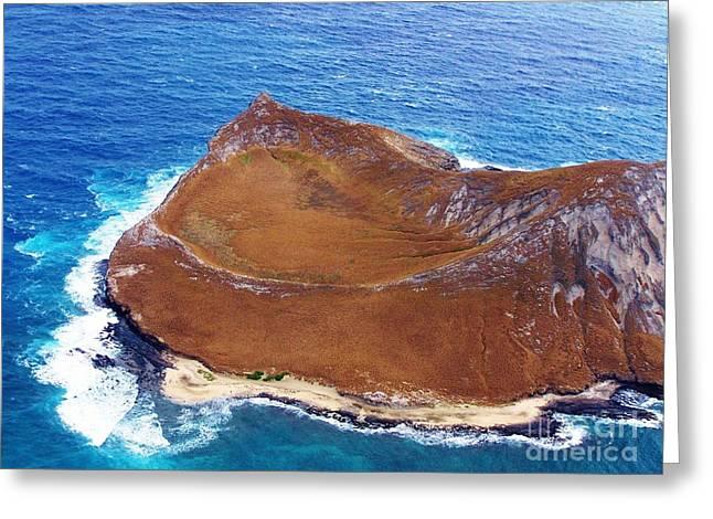 Rock Island Oahu Greeting Card