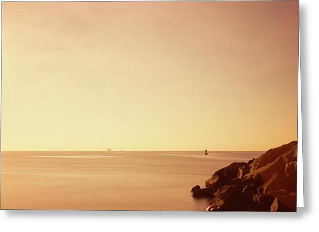 Rock Jetty Leading Into Fort Lauderdale Greeting Card by Panoramic Images
