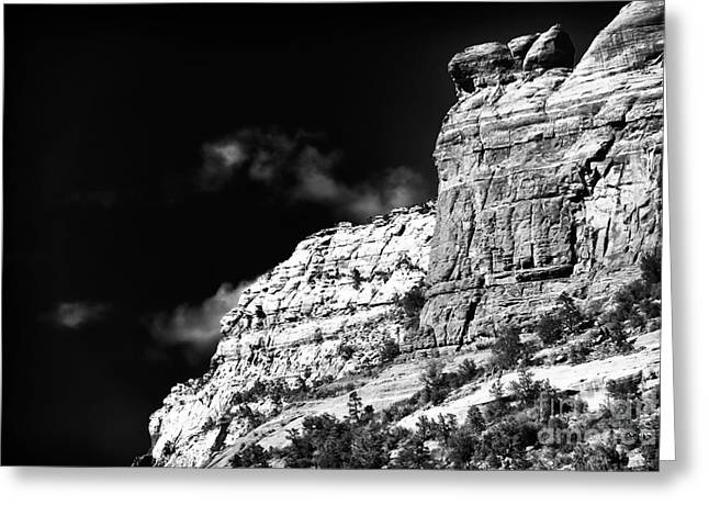 Rock Ledge In Sedona Greeting Card by John Rizzuto