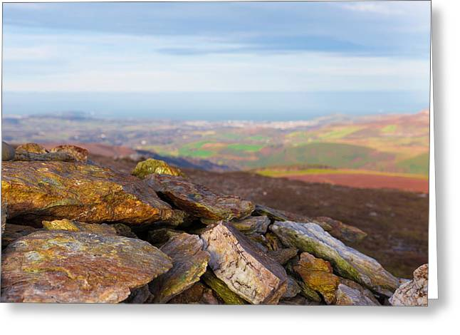 Rock Minerals Found In The Wicklow Mountains Greeting Card by Semmick Photo