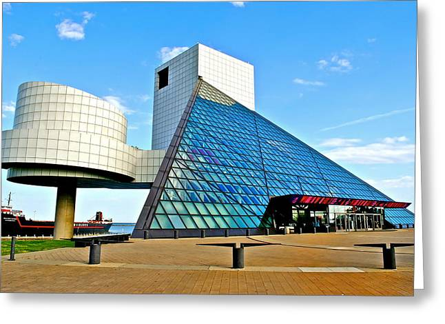 Rock N Roll Hall Of Fame Greeting Card