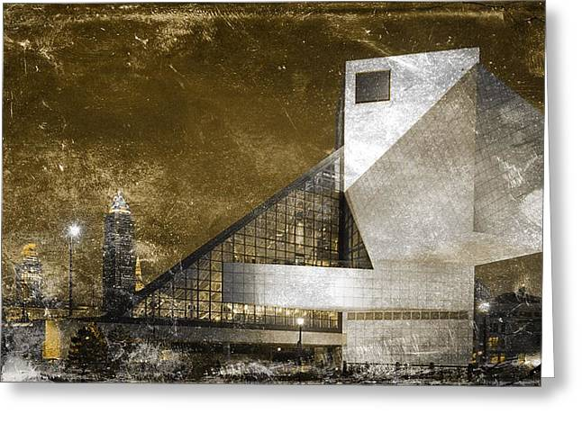 Rock 'n Roll Hall Of Fame Greeting Card by Sandra Rozhon
