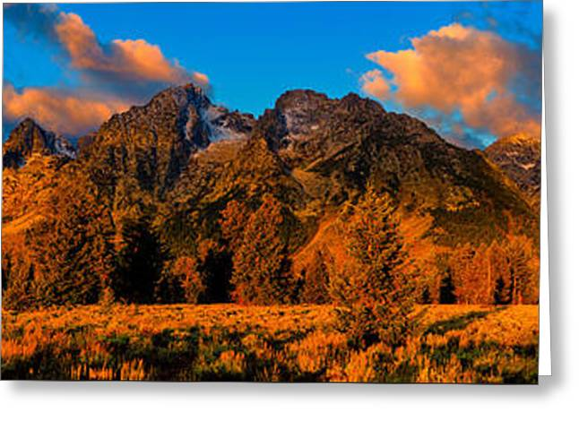 Rock Of Ages Panorama Greeting Card by Greg Norrell