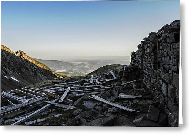 Rock Of Ages Ruins Greeting Card by Aaron Spong
