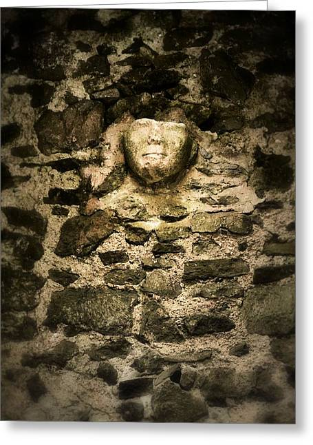 The Face In The Wall - Rock Of Cashel Greeting Card