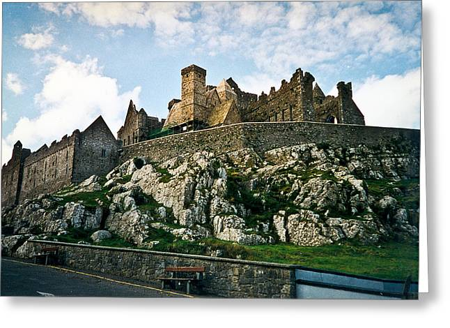 Stone Chimney Greeting Cards - Rock of Cashel Castle Ireland Greeting Card by Douglas Barnett