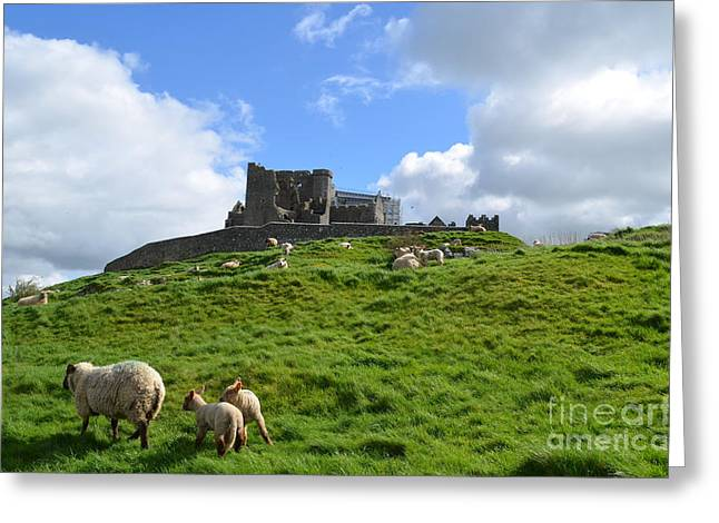 Rock Of Cashel In The Distance Greeting Card
