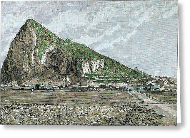 Rock Of Gibraltar Greeting Card by Prisma Archivo