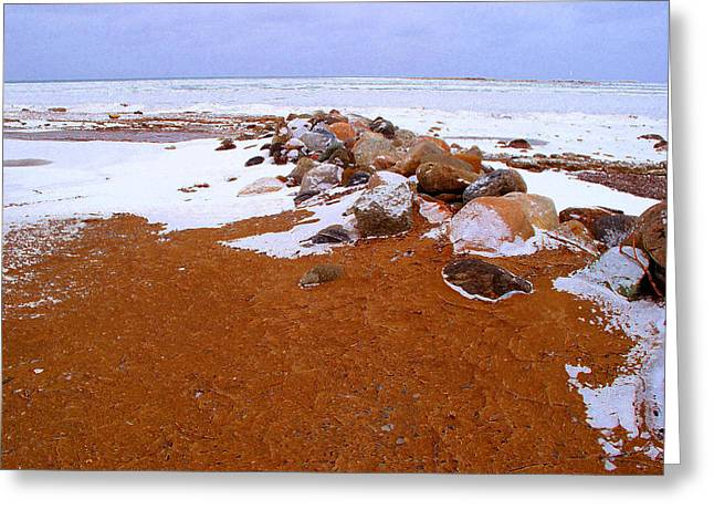 Rock Pile In Winter Wcae2pd  Greeting Card by Lyle Crump