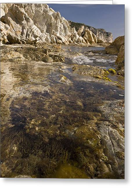 Rock Pools, Chios, Greece Greeting Card