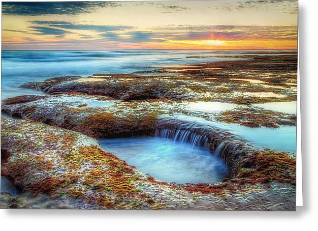 Rock Pools Greeting Card by Paradigm Blue