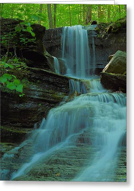 Rock Run Tributary Falls #3 Greeting Card