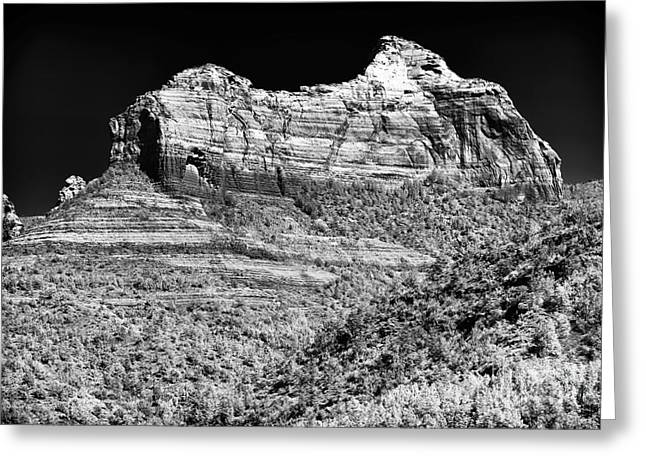 Rock Shapes In Sedona Greeting Card by John Rizzuto
