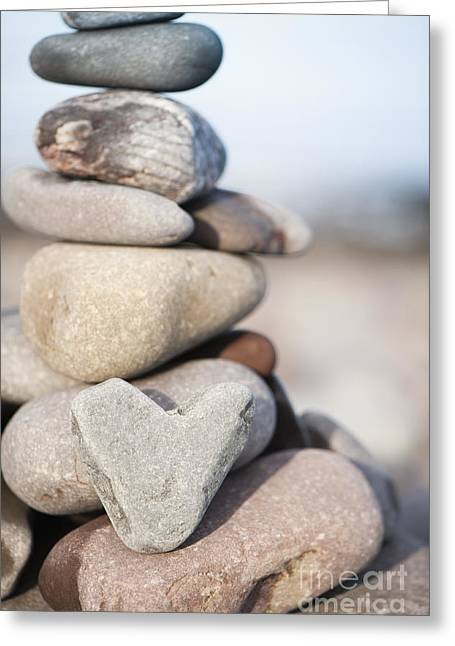 Rock Solid Love Greeting Card by Anne Gilbert