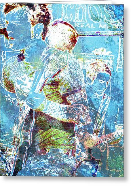 Greeting Card featuring the digital art Rock Star Guitarist by John Fish