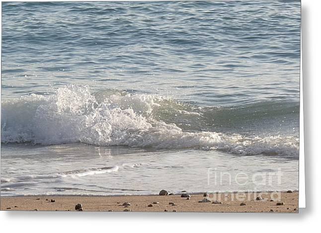 Rock-strewn Beach Greeting Card by Deborah Smolinske