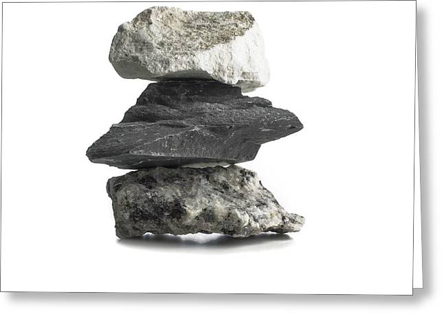 Rock Types Greeting Card by Science Photo Library