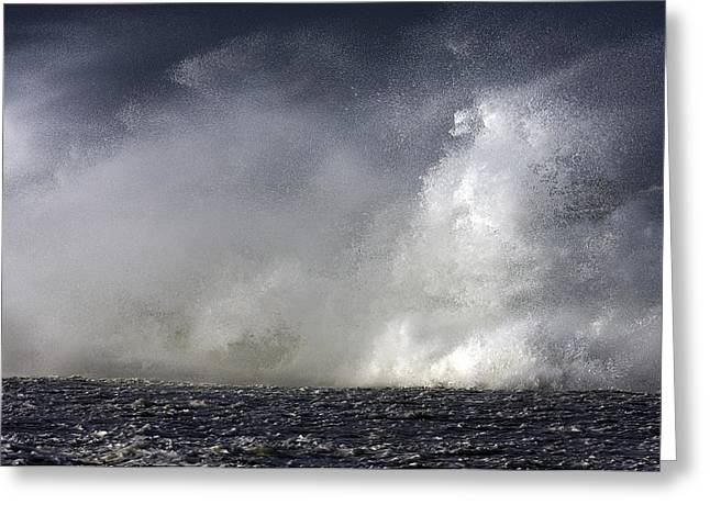 Rock V Wave V Greeting Card by Tony Reddington