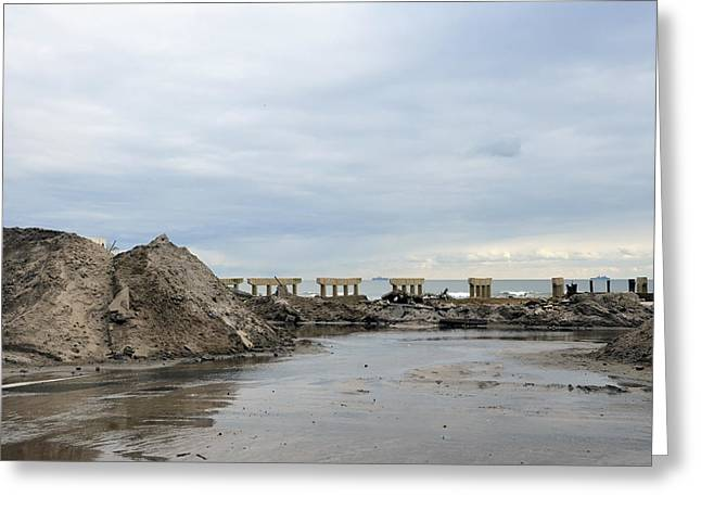Rockaway Beach After Hurricane Sandy 4 Greeting Card