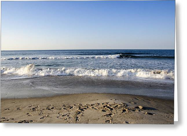 Rockaway Beach Morning Shoreline Greeting Card