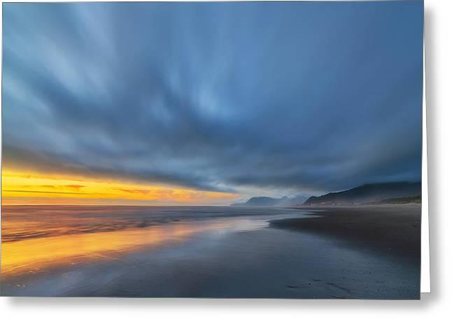 Rockaway Sunset Bliss Greeting Card by Ryan Manuel
