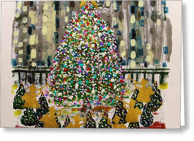 Rockefeller Center Greeting Card by John Williams
