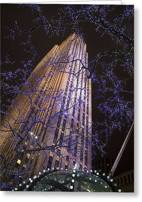 Rockefeller Center Night Lights Greeting Card