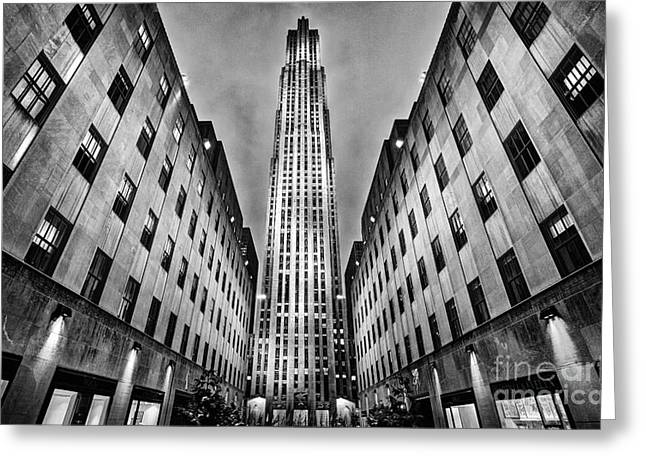 Rockefeller Centre Greeting Card by John Farnan