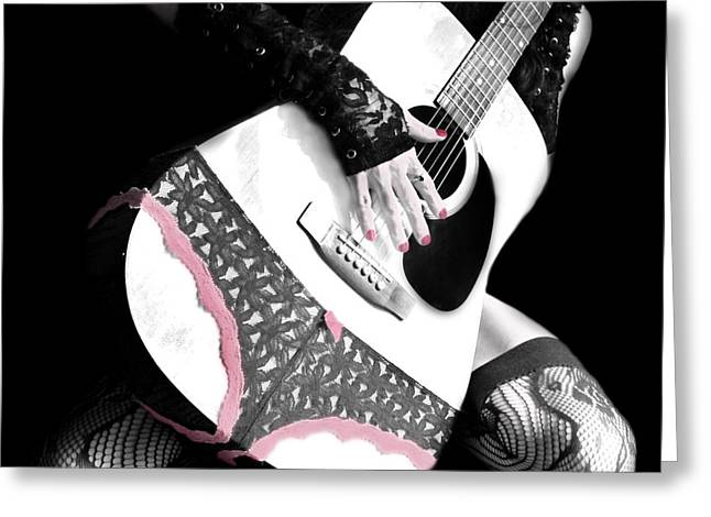 Rocker Chic Greeting Card by Mary Burr