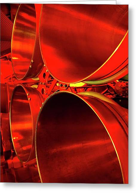 Rocket Engine Nozzles. Greeting Card by Mark Williamson