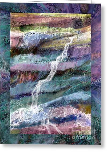 Rockface Greeting Card by Ursula Freer