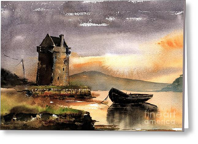 Rockfleet Castle In Mayo Greeting Card