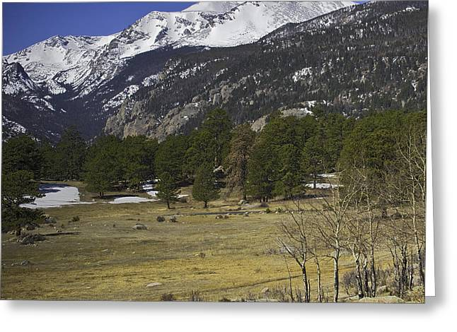 Rockies Greeting Card by Tom Wilbert