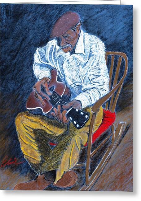Rockin Chair Blues Greeting Card by Charlie Black
