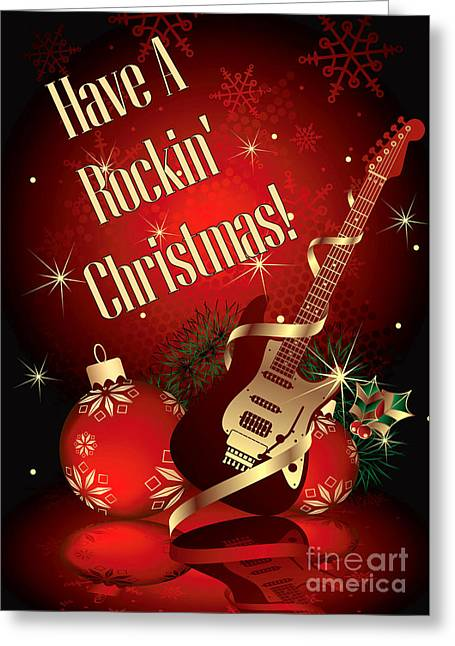 Rockin Christmas Greeting Card