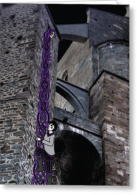 Rockin' Raven Celtic Rapunzel Greeting Card