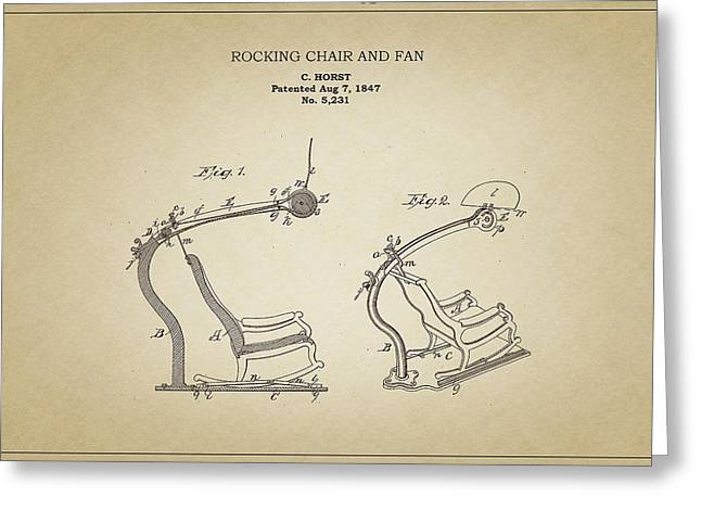 Rocking Chair And Fan Greeting Card