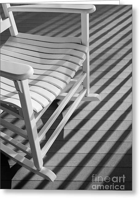 Rocking Chair On The Porch Greeting Card by Diane Diederich