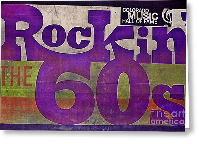 Rocking Sixties Music Greeting Card by Janice Rae Pariza