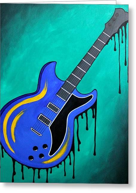 Rock'n Blue Greeting Card by Allison Liffman