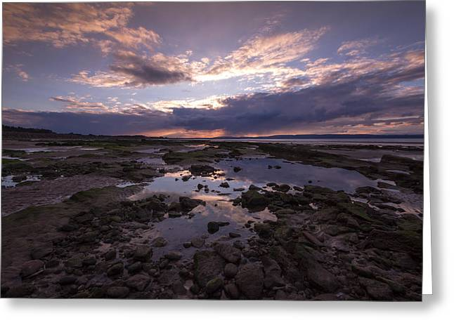 Rockpool Reflections Greeting Card by Karl Normington