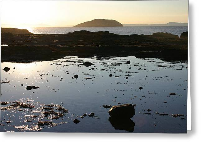 Rockpool Sunset Greeting Card by Fraser McCulloch