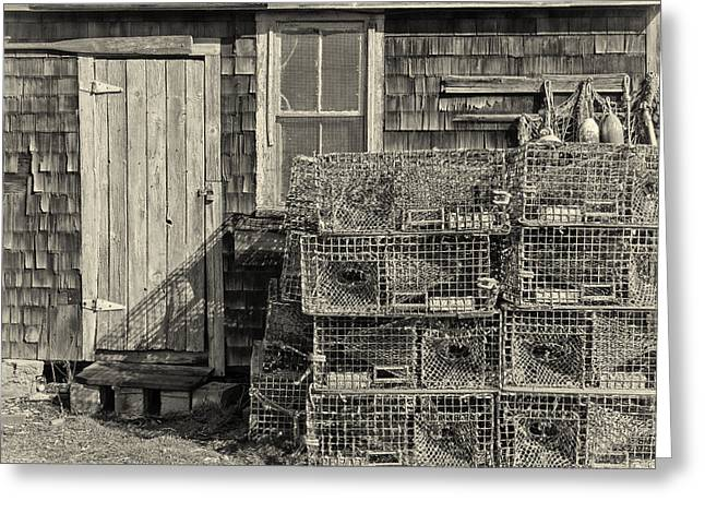 Rockport Fishing Shack Greeting Card