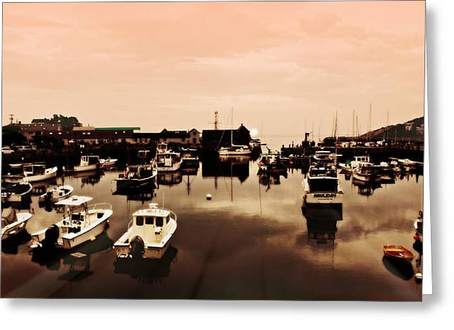 Rockport Harbor And Motif Number 1 Greeting Card by Stephen Stookey