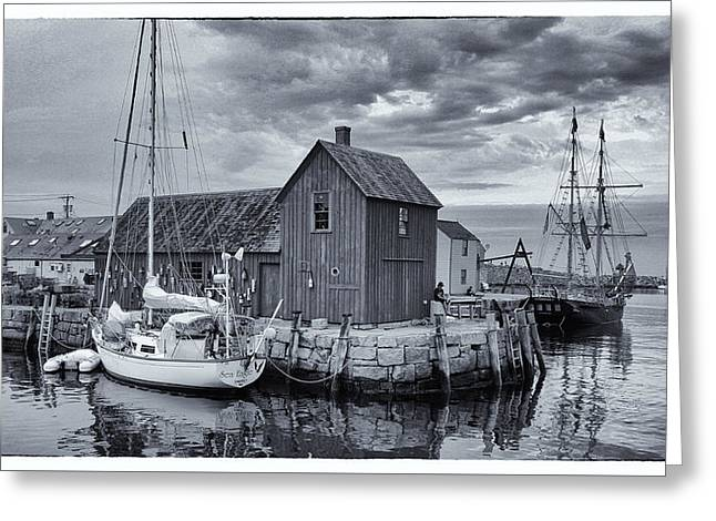 Rockport Harbor Lobster Shack Greeting Card by Stephen Stookey