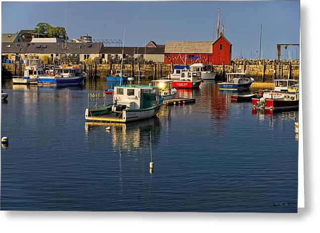 Greeting Card featuring the photograph Rockport Harbor No.1 by Mark Myhaver